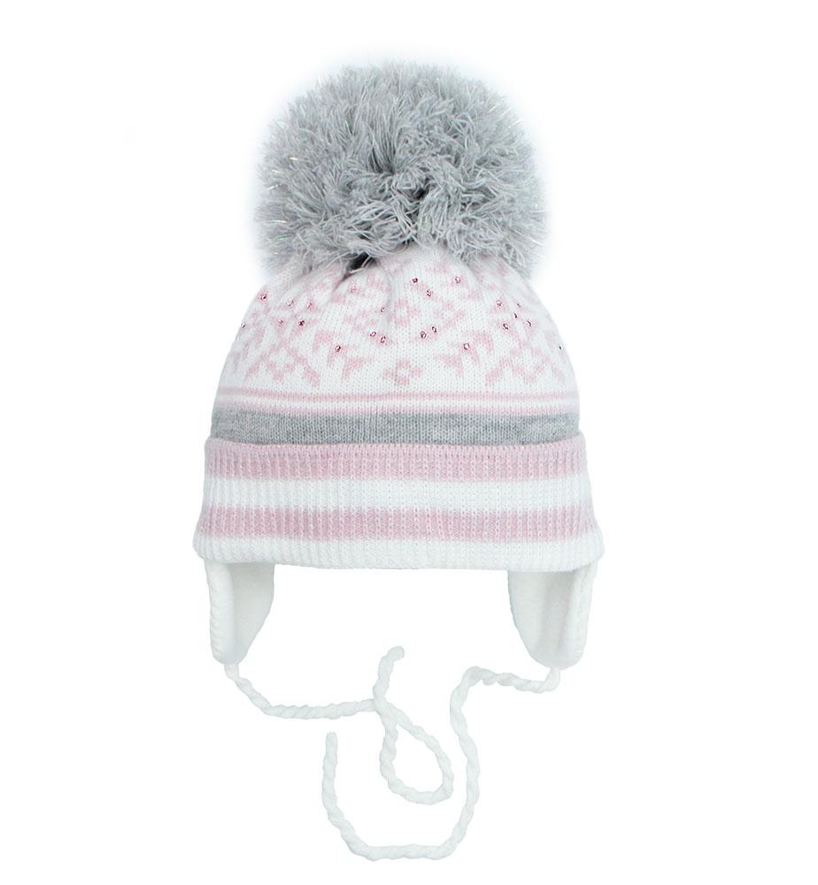 Купить Пилгуни Детская шапка Pilguni 21-502 TS белый/розовый