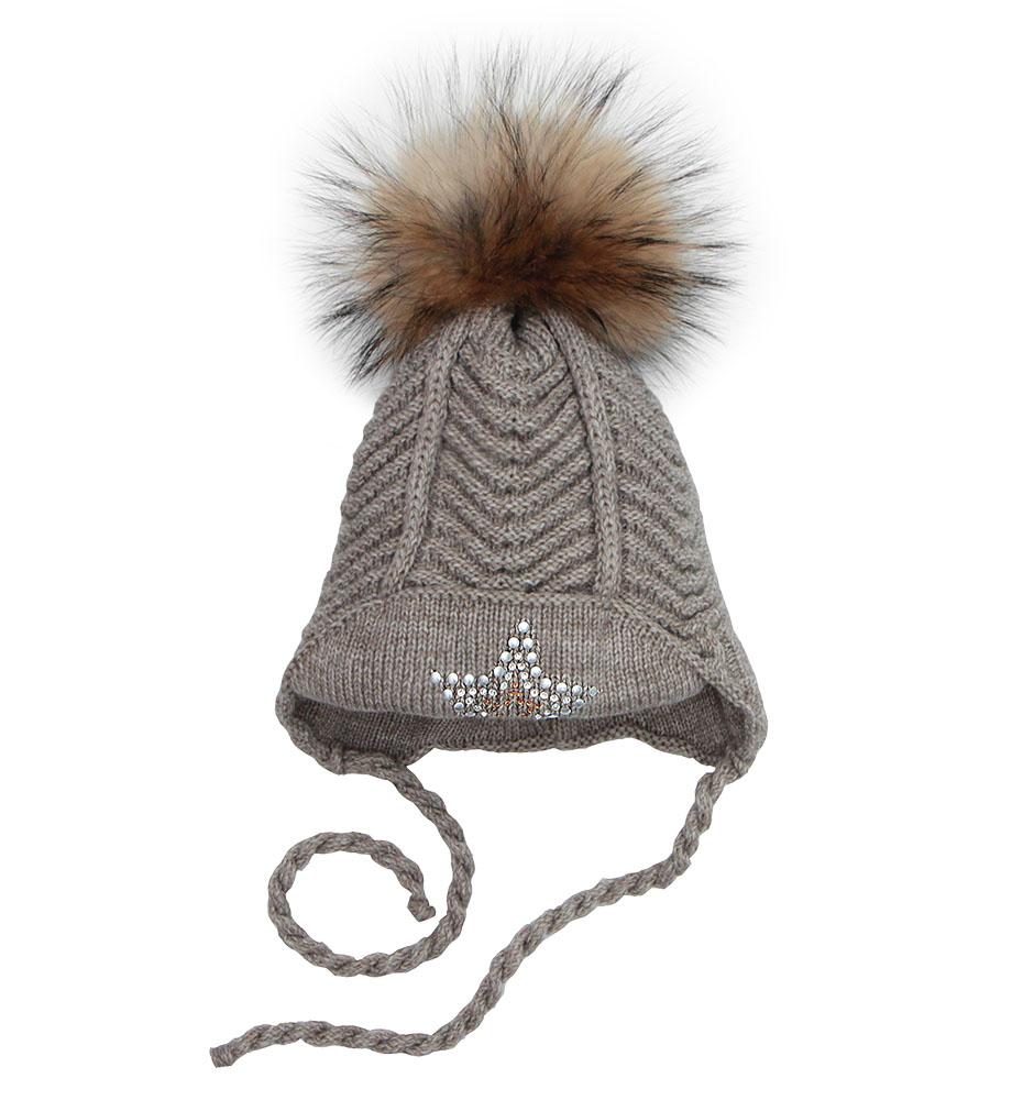 Купить Пилгуни Детская шапка Pilguni 23-721A коричневый