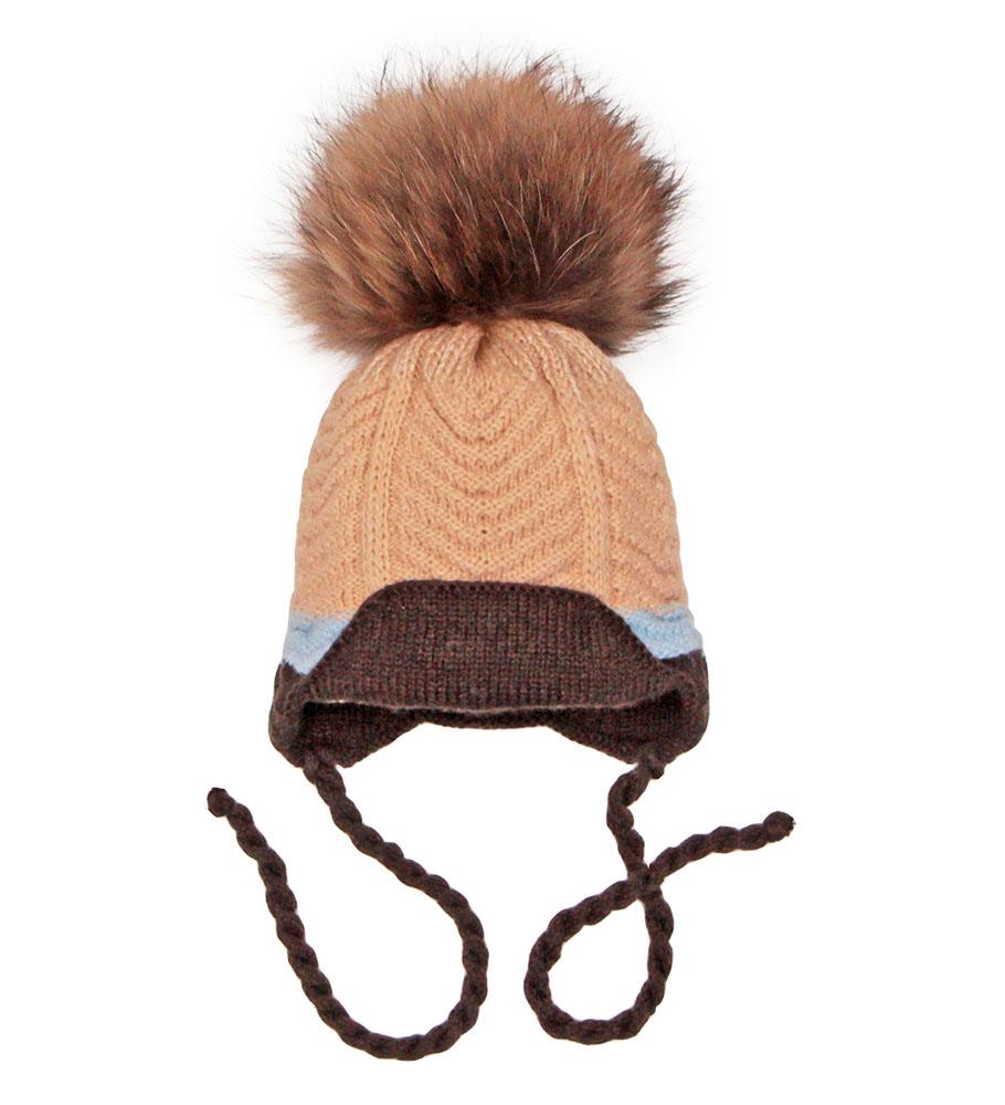 Пилгуни Детская шапка Pilguni 27-530A бежевый/коричневый