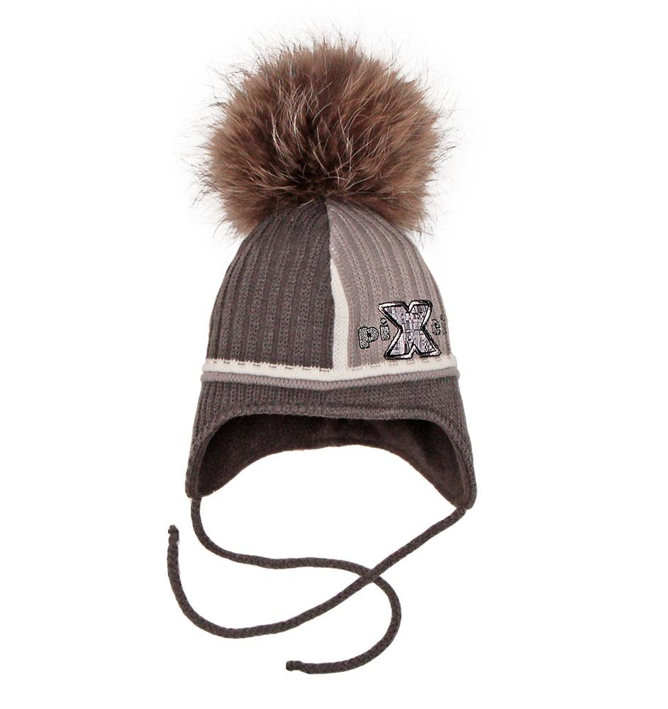 Пилгуни Детская шапка Pilguni PIXELS серый